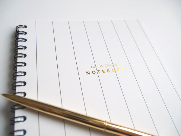 To Do Today - Stripe Notebook