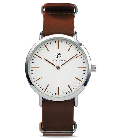 Nato Dapper Light Brown - Wood & Sea Watches