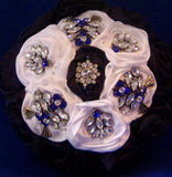 Bouquets - Blue Black Satin Rose Bouquet