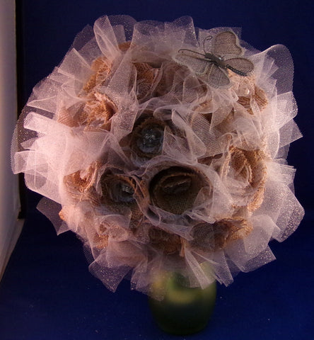 Bouquet-Burlap and Lace