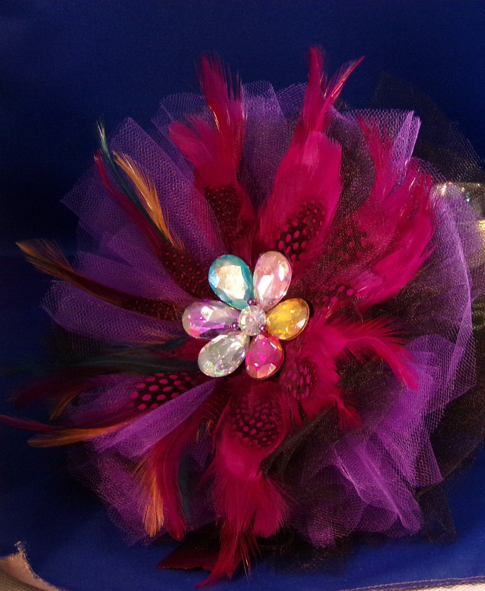 Bouquet-Feathers & Tulle Whimsical