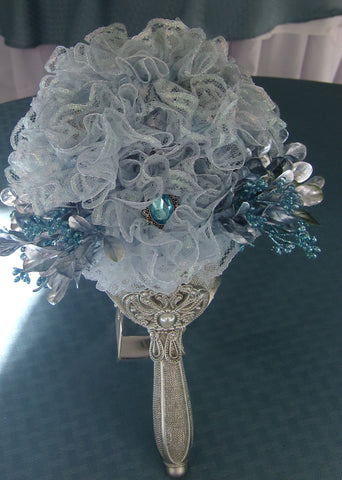 Bouquet - Lace Shimmer Blue Green