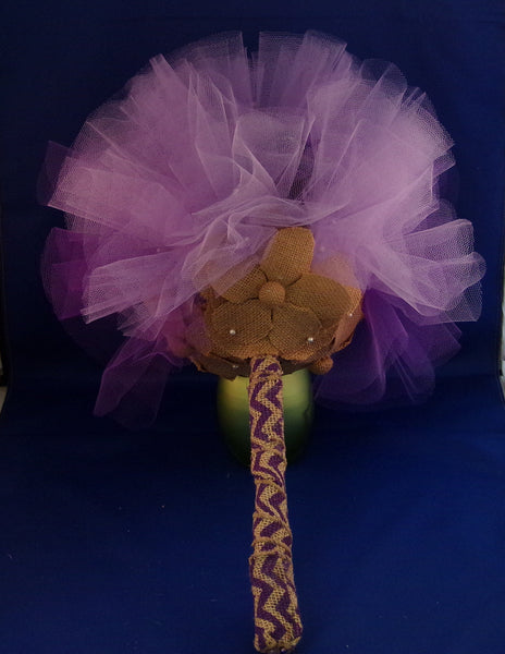 Bouquet-Purple Burlap Passion