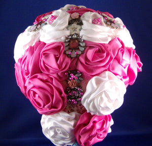 Bouquet - Pink Rose Blush Satin Bouquet