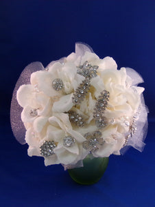 Bouquet-White Rose Sparkle