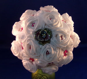 Bouquet-A White Satin Rose
