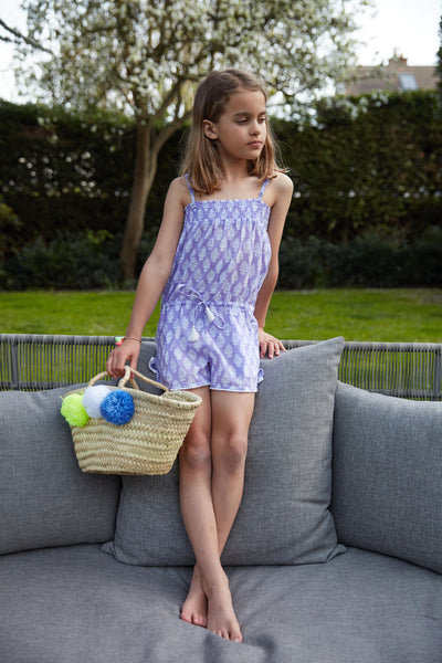 Edith Playsuit Strapless with Pompom Trim<br>(Ages 11-12)