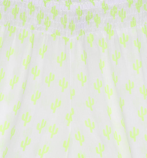 Grace Harem Pants in Neon Yellow Cactus Print (Ages 7-16)