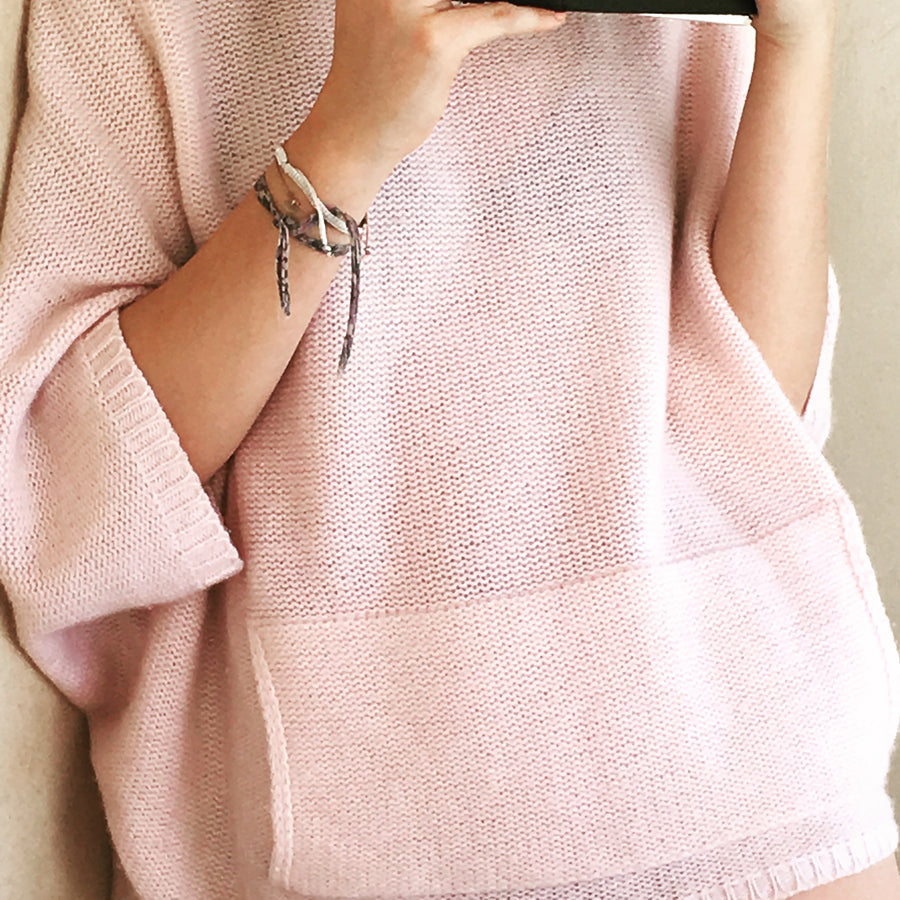 Cashmere Poncho Pink