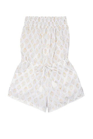 Edith Playsuit Strapless with Pompom Trim<br>(Ages 9-12)