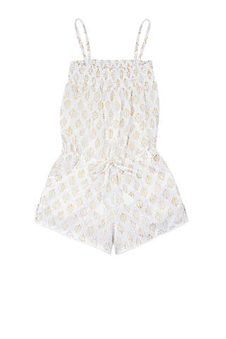 Edith Playsuit with Pompom Trim<br>(Ages 3-8)