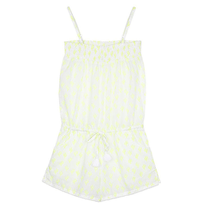 Edith Playsuit with Pompom Trim - Cactus Print