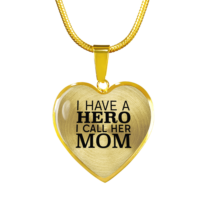 I have a hero i call her mom 18k gold pendant necklace epic i have a hero i call her mom 18k gold pendant necklace aloadofball Gallery