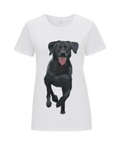 Ladies white labrador T Shirt