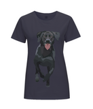 Ladies navy labrador TShirt