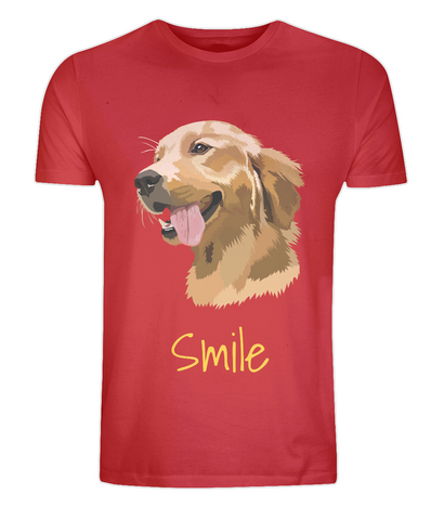 Mens Golden Retriever T-Shirt Red Size XS S M L XL 2XL 3XL 4XL 5XL