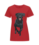 Ladies red labrador T Shirt