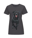 Ladies grey labrador T Shirt