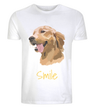 Mens Golden Retriever T-Shirt White Size XS S M L XL 2XL 3XL 4XL 5XL