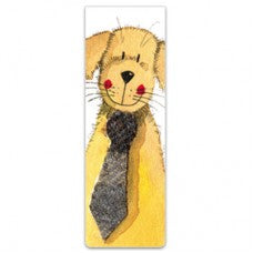 Alex Clark magnetic bookmark with smiling Golden Retriever