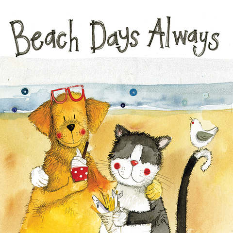 "Greetings Card ""Beach Days Always"""