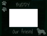 "Personalised Golden Retreiver Photo Frame - ""Bandana"""