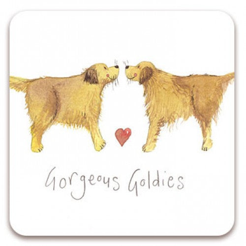 Golden Retriever Coaster Alex Clark Gorgeous Goldies