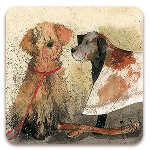 "Golden Retriever Labrador Coaster  Alex Clark ""Mud"""