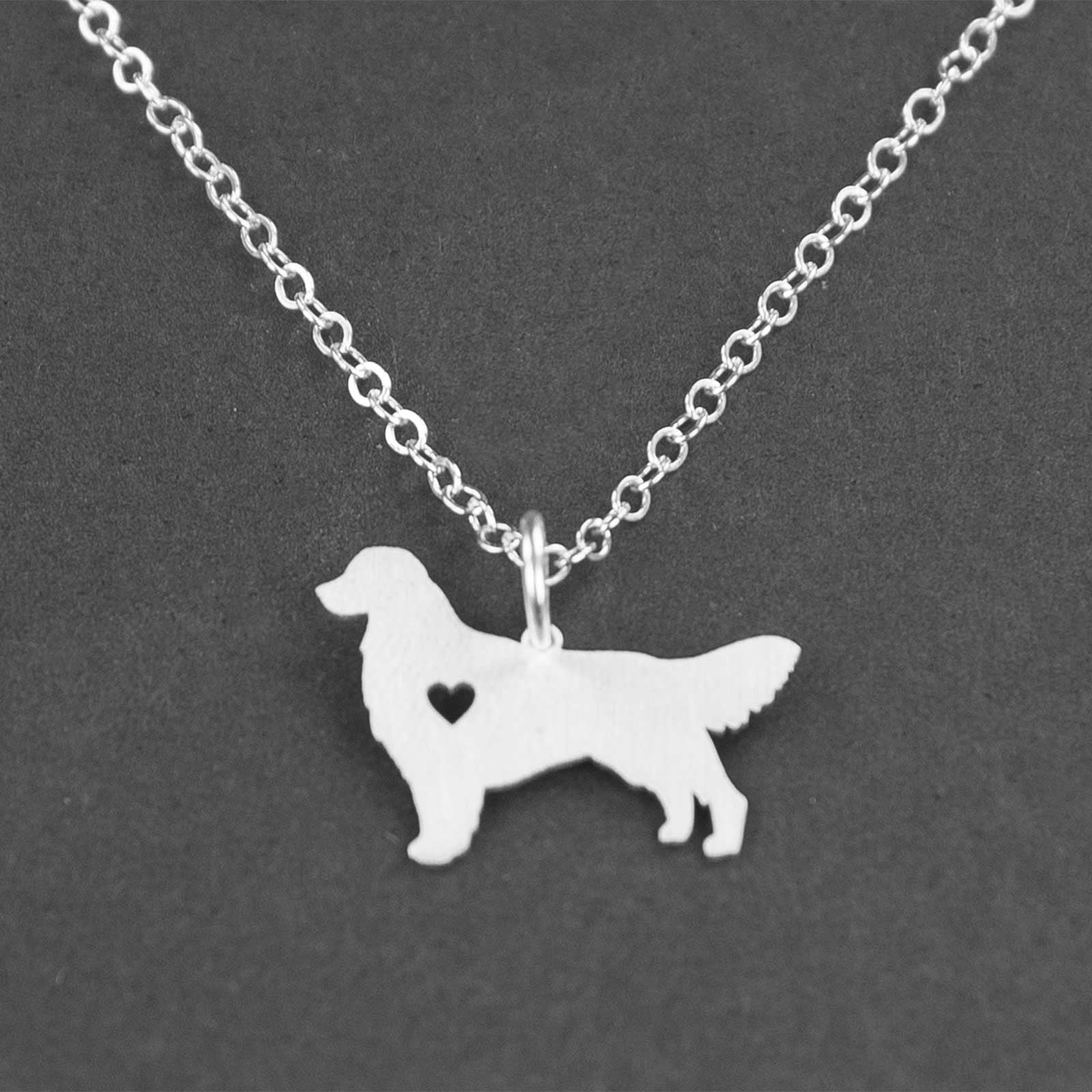 Sterling Silver Golden Retriever Necklace Goldie Dogs