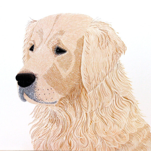 "Greetings Card ""Golden Retriever"""