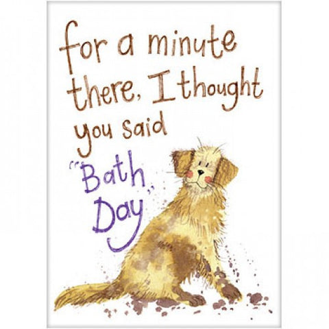 "Golden Retriever Birthday Card Alex Clark ""Bath Day"""