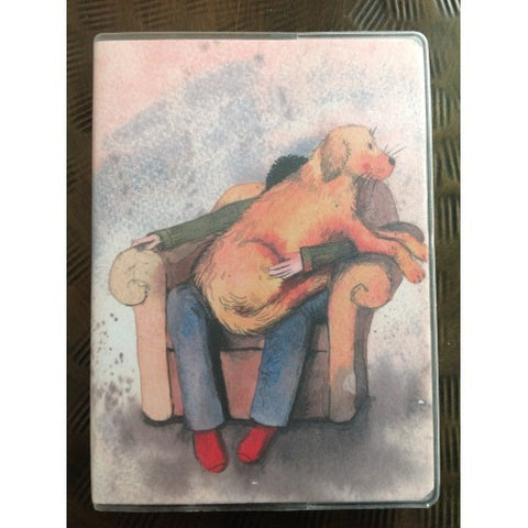 Golden Retriever Pocket Notebook.  Alex Clark.  Dog on lap