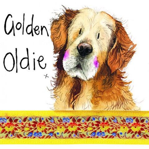 Golden  Retriever Card Alex Clark Golden Oldie