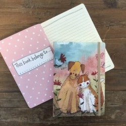 Large Notebook -Dog and Cat Love