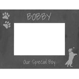 "Personalised Golden Retriever Photo Frame ""Ball"""