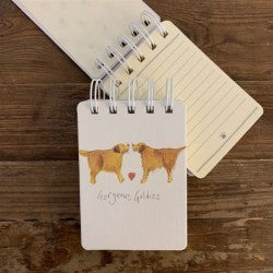 "Small Spiral Notebook ""Gorgeous Goldies """