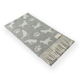 Luxury Wool with Cashmere Scarf - Grey