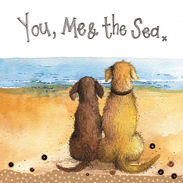 "Greetings Card ""You Me and the Sea"""