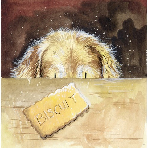 "Golden Retriever Card Alex Clark ""Biscuit"""