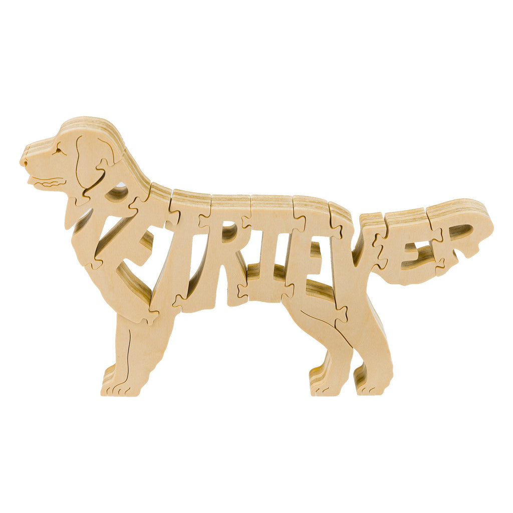 Golden Retriever Wooden Model Puzzle