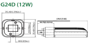 12W JUBILEE LED G24D LAMP 2-PIN (BOX OF 10)