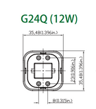 12W JUBILEE LED G24Q LAMP 4-PIN (BOX OF 10)