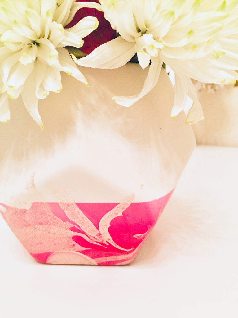 Love Where You Work DIY - Marbled Vase