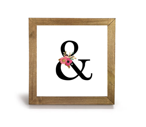 "Floral ""Ampersand"" - Office Print and Frame"