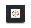 "Mini cubicle wall mirror with Wreath & ""Be Merry and Bright"" message"