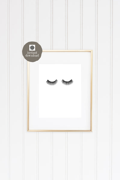 8x10 Eyelashes - Office Print, Digital Download