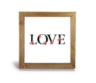 "Floral ""LOVE"" - Office Print and Frame"