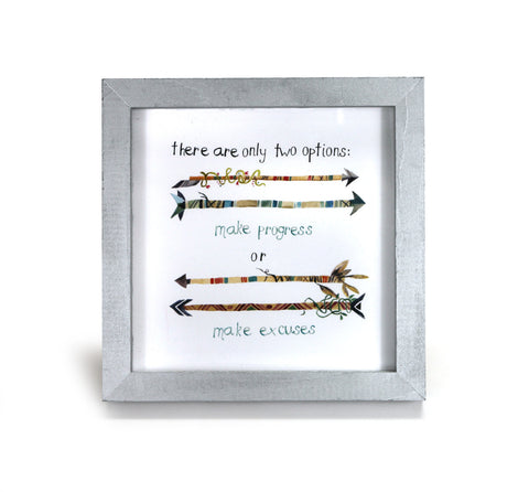 Only Two Options - Motivational Quote - Office Print and Frame