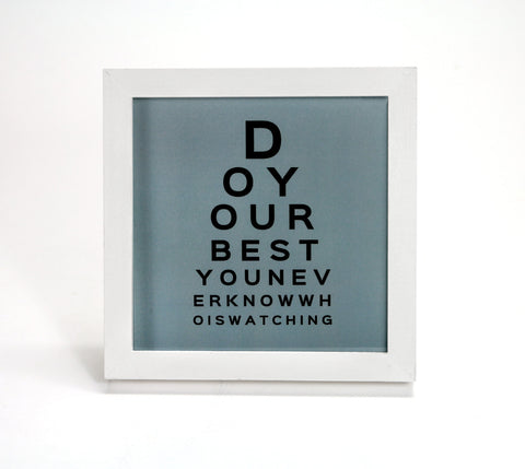 Do Your Best in Blue - Motivational Quote - Office Print and Frame