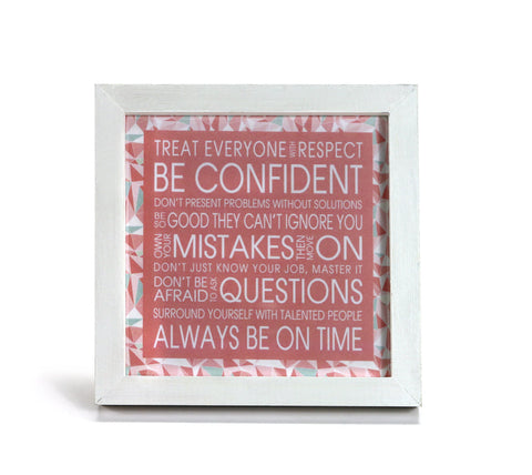 Good Advice in Pink - Inspriational Quote - Office Print and Frame